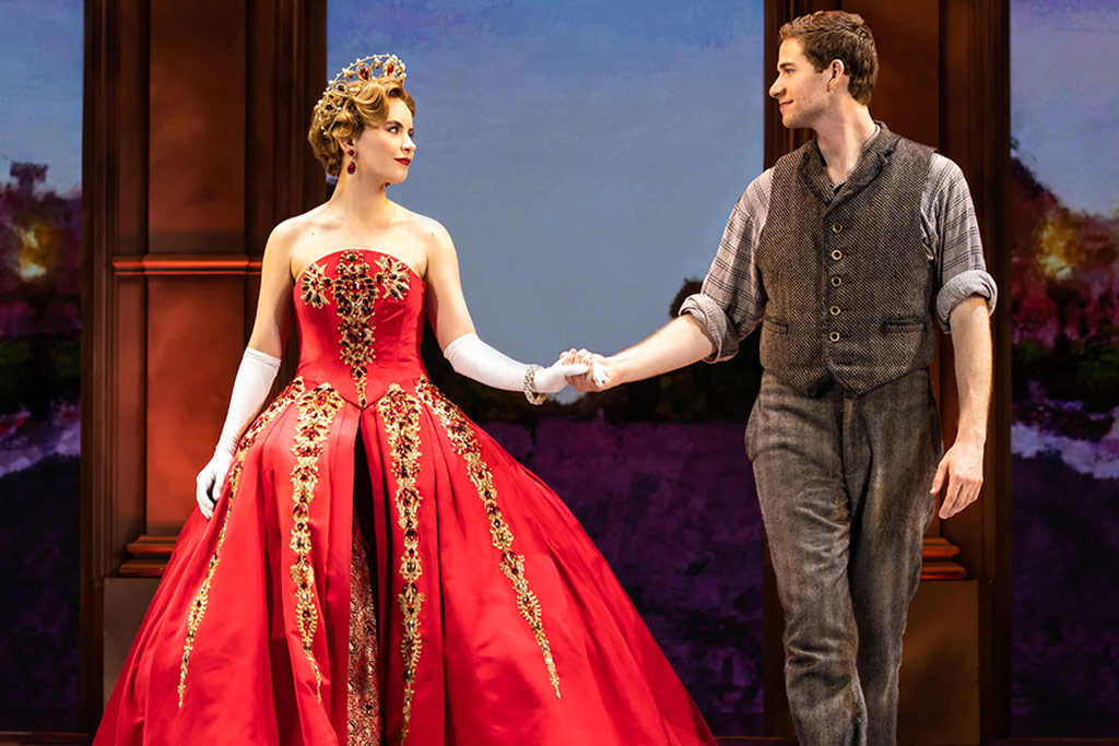 Lila Coogan (Anya) and Jake Levy (Dmitry) in National Tour of ANASTASIA Photo by Evan Zimmerman, MurphyMade